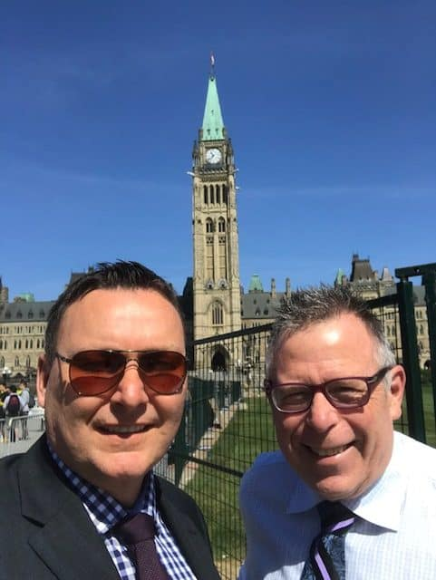 Paul Lavoie and Bill Peterson in Ottawa