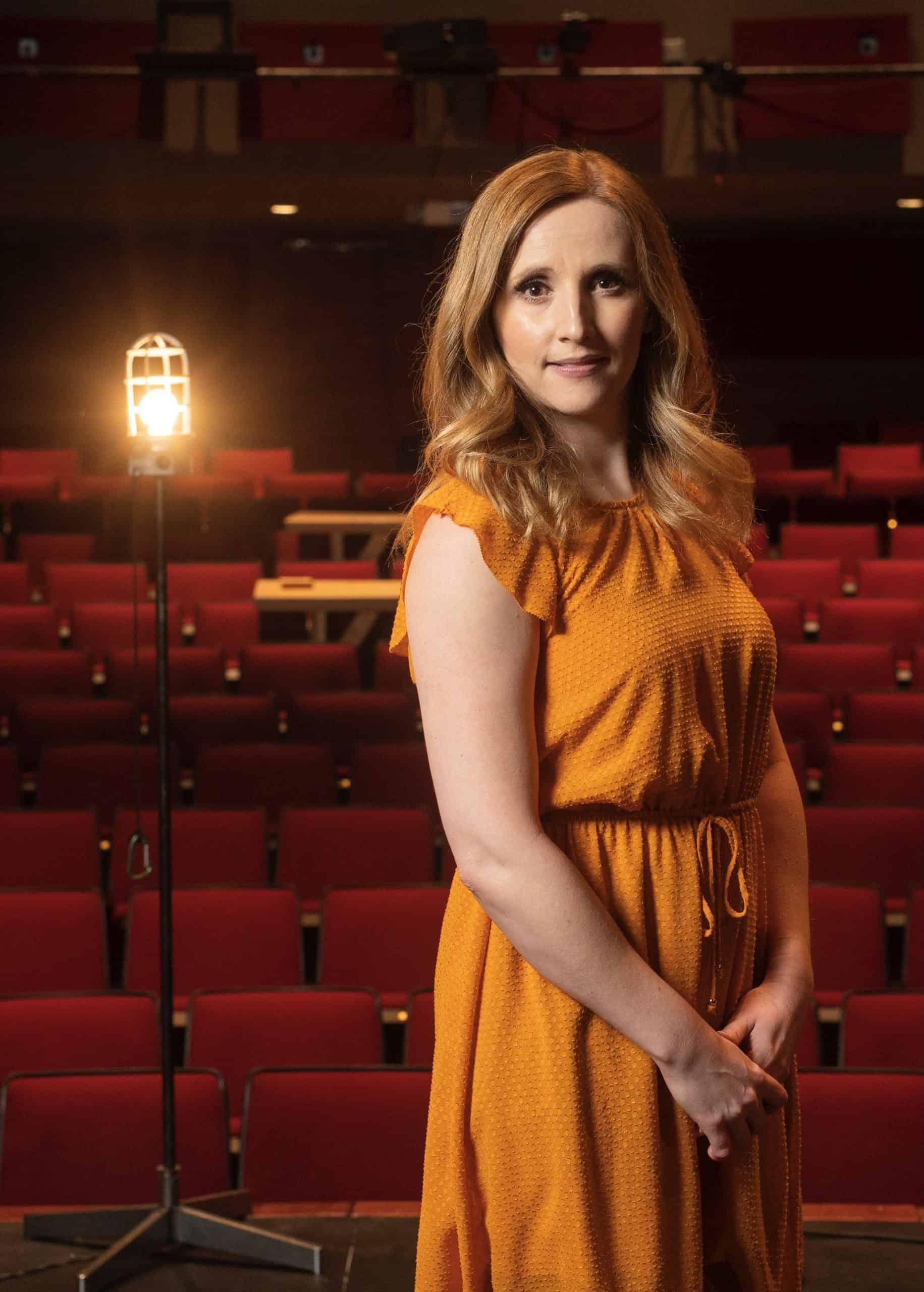 Anita Smith pictured in the empty theatre