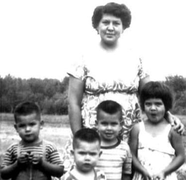 Chief Alphonsine Lafond with children